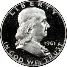 1961 Half Dollar Value Chart 1961 50c Pf Franklin Half Dollars Ngc