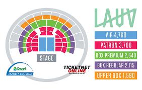Moa Seating Chart Lauv Asia Tour 2019