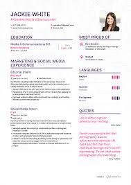 Examples Of Resumes By Enhancv Mock Resume Jackie Wh Peppapp