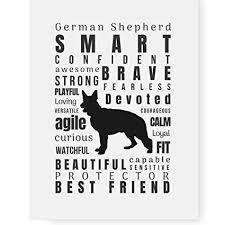 pawsome designs german shepherd dog e wall art print german shepherd gifts for dog