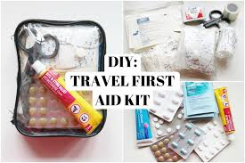 diy creating a travel first aid kit