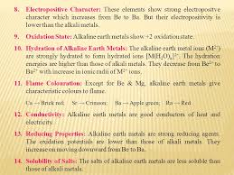 Alkaline earth metals refer to the six elements belonging to the ...
