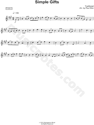 traditional shaker song simple gifts violin part 1 sheet in a major print sku mn0088736