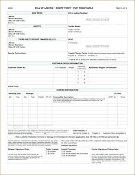sample bol free blank bill of lading printable invoice template luxury form d