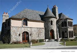 Residential Architecture: A residential home exterior in the style of a  castle