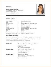 Vibrant Sample Of Simple Resume Exciting A Free Example And