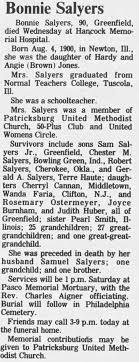 Obituary for Bonnie Salyers (Aged 90) - Newspapers.com