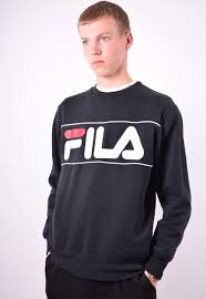 fila clothing mens. fila mens vintage sweatshirt jumper medium black 90\u0027s | messina hembry clothing asos marketplace