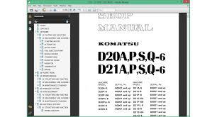 komatsu bulldozers service repair manuals