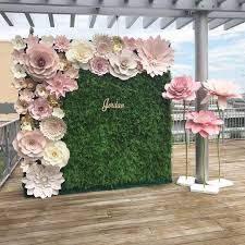 Paper Flower Backdrop Rental Paper Flower Wall Rental Magdalene Project Org