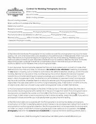 Wedding Photography Contract Form Sample Wedding Photography Contract Template