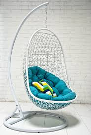 Unique Blue Hanging Chairs For Bedrooms Extraordinary Outdoor With White To Design Decorating