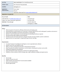 Salon Receptionist Job Description Resume - http://resumesdesign.com/salon-