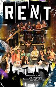 Rent Poster Rent The Musical The Gunnery