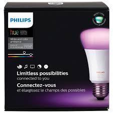 philips hue a19 smart personal wireless light bulb starter kit white colour ambiance 3rd gen smart lights best canada