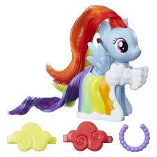my little pony runway fashions set with rainbow dash figure hasbrotoy