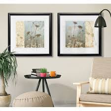Charlton Home '<b>Delicate</b> Fields I' <b>2 Piece</b> Framed Print Set | Wayfair