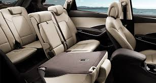 interior view of seven seats with right back seat folded