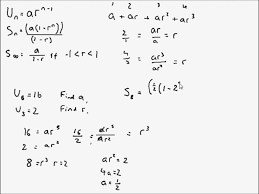 a level maths c2 geometric series