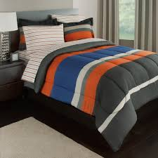 rugby stripe reversible bed in a bag bedding set available in multiple colors com