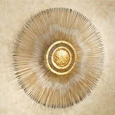 sunburst metal wall sculpture gold touch to zoom