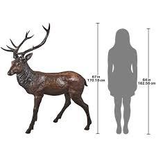 design toscano 67 in h standing deer