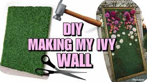 with me making my diy ivy grass wall for my office pt1 home decor febuary 2018