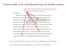 Mla Citations In Research Papers Essay Family Regarding Work
