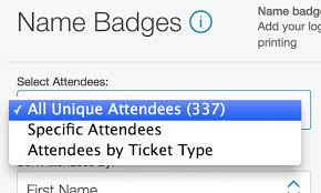 Print Name How To Print Attendee Name Badges Eventbrite Help Center