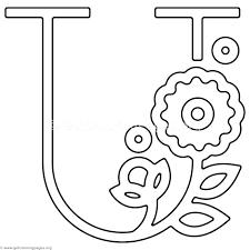Letter U Coloring Page Modern Flower Alphabet Letter U Coloring