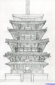 architectural buildings drawings. Delighful Buildings How To Draw A Pagoda Japanese Pagoda Step 16 Inside Architectural Buildings Drawings