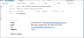 Creat E Mail How To Create A Task From An Email Message In Outlook 2013