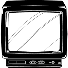 tv clipart black and white. television tv clipart black and white 8