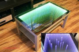 shiny infinity mirror coffee table for top result diy led coffee table best of oak table
