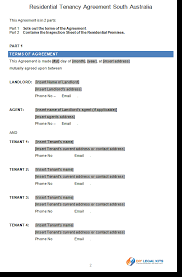lease agreement sample residential tenancy agreement south australia rental agreenent sa