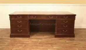 antique mahogany large home office unit. Large Traditional Executive Desk, Fine Antique Reproduction Desk With Oak Drawers Mahogany Home Office Unit V