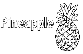 Small Picture Pineapple Coloring Page Free Fruits Coloring pages of