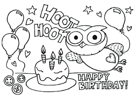 Happy Birthday Balloons Coloring Pages Ndash For Kids Stuff