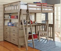 ne kids highlands full loft bed with desk double wood bunk beds in driftwood in home garden kids teens at home furniture bedroom furniture