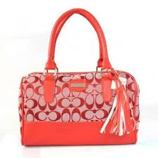 Shop Coach Legacy Weekend In Signature Medium Red Satchels ADM