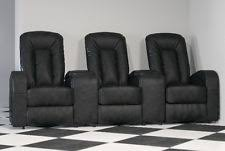 home theater chairs. 3-seat black leather home theater recliner tv room relaxing chairs cinema lounge