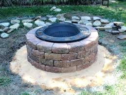 homemade brick fire pit how to make a fire pit screen great fire pit homemade brick