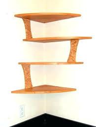 wall mounted wood shelf artistic wooden corner shelves ikea microwave