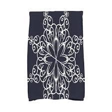 navy blue snowflake holiday geometric print kitchen towel