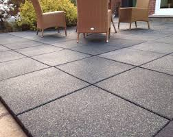 image of outdoor rubber flooring grey