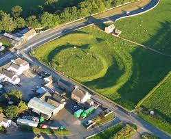 aerial photo by simon ledingham king arthurs round table is a prehistoric circular earthwork