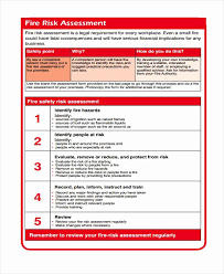 Fire Risk Assessment Form Template. Risk Assessment Form Template ...