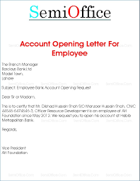 Bank Opening Letter Format Theunificationletters Com
