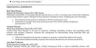 Mechanic Resume Skills Automotive Technician Resume Objective