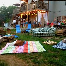An Outdoor Movie Party  KitchnMovie Backyard